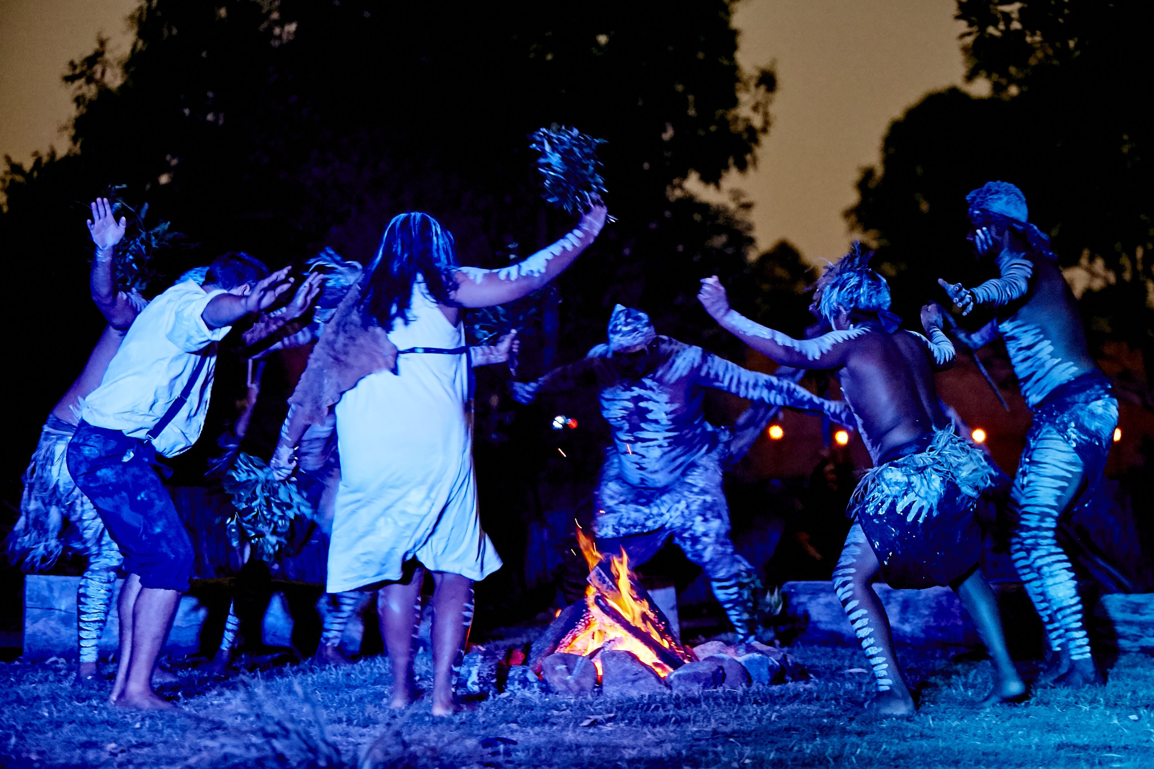 A powerful Corroboree (dance) during Spirits of the Red Sand