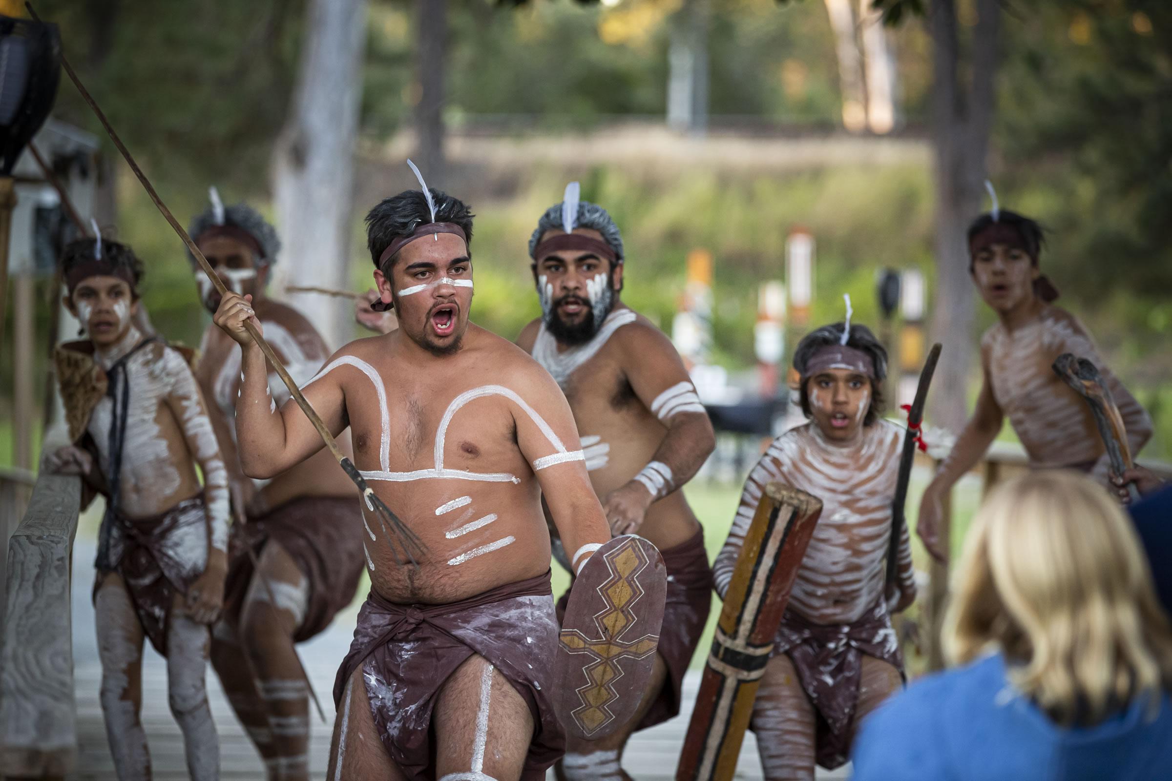 Spirits of the Red Sand aboriginal performance, Brisbane, Australia